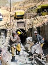 L'entree d'une des mines de Potosi
