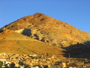 Coucher de soleil sur le Cerro Rico a Potosi