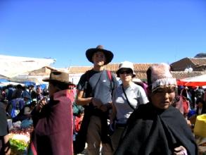 Les gringos au marche de Tarabuco
