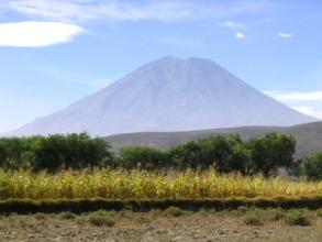 Vue sur le volcan Misti a cote d'Arequipa au Pérou