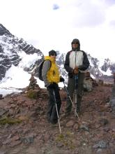 Au quatrieme col du circuit de l'Ausangate au Pérou