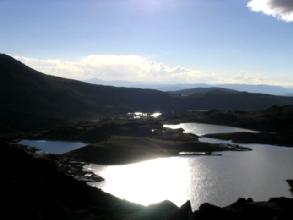 Coucher de soleil sur le dernier campement du circuit de l'Ausangate au Pérou