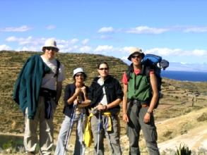 Les gringos reunis sur l'isla del sol en Bolivie