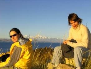 Coucher de soleil sur fanny et geraldine et accessoirement la Cordillera Real