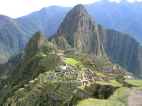 Le Machu Picchu, avec le Huana Picchu dans le fond