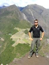 Bertrand en haut du Huana Picchu