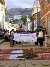 Procession a Ayacucho au Pérou