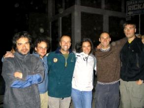Un groupe de gringos sympas a Chavin
