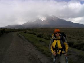 Le Chimborazo sous la pluie et les nuages