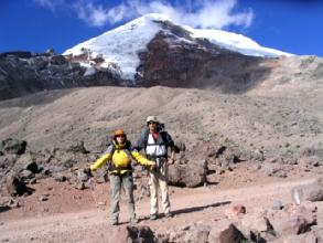 La face sud du Chimborazo