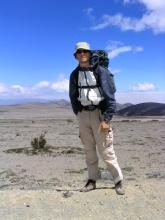La plaine desertique du Chimborazo avant la tempete de neige