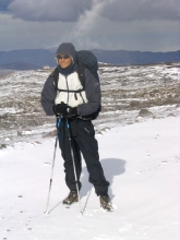 La plaine desertique du Chimborazo apres la tempete de neige