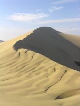 Dunes de sables pres de Huacachina au Pérou