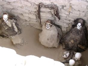 Momies de Chauchilla pres de Nasca au Pérou