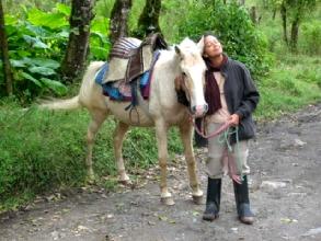 Promenade a chaval dans les environs de Baños