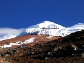 Le sommet du volcan Cotopaxi