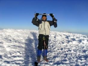 Bertrand au sommet du Cotopaxi