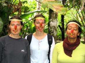 Deguisement dans la jungle a Misahualli