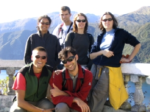Toute l'equipe a la laguna Cuicocha