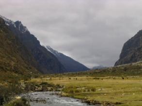 Un temps un peu pourri dans la Quebrada Santa Cruz, sur le chemin du retour