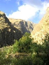 L'entree (ou la sortie) de la Quebrada Santa Cruz, etrangement sous le soleil