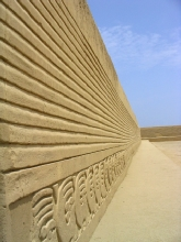 Un palais de Chan-Chan dans les sables