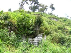 Le site de Yalape en plein milieu de la vegetation