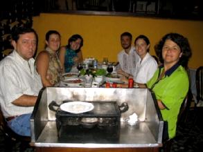 Notre famille d'accueil de Belo Horizonte : Clara, Carolina, Marcelo et Regina