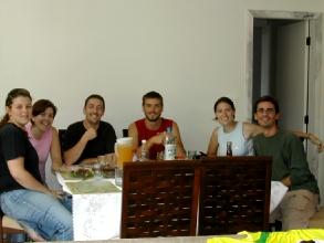 Notre dernier repas avec la famille Pessoa