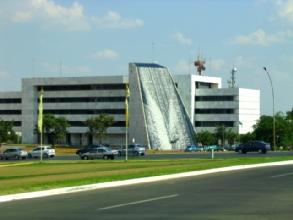 Le palais de justice a Brasilia