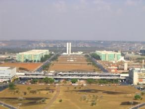 Vue sur le quartier des ministeres depuis la tour de la TV a Brasilia