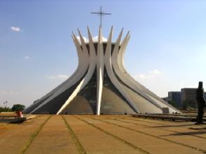 La cathedrale de Brasilia