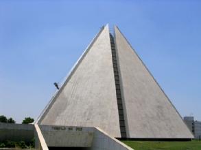 La pyramide du temple de la Bonne Volonte a Brasilia