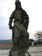 Statue d'un apotre a Congonhas, Minas Gerais