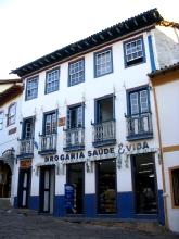 Facade d'un batiment a Diamantina, Minas Gerais