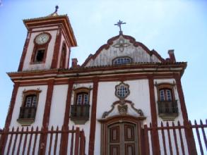 Facade d'eglise a Diamantina, Minas Gerais