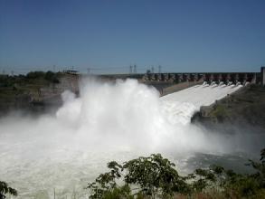 Le barrage d'Itaipu, pres de Foz d'Iguazu