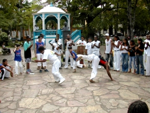 Demonstration de capoeira a Mariana, Minas Gerais