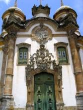 Le devant de l'eglise Saõ Francisco a Ouro Preto, Minas Gerais