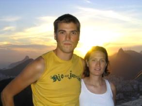 Couche de soleil sur Rio