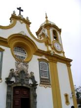 Facade de l'eglise Santo Antonio a Tiradentes, Minas Gerais