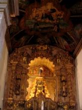 Interieur d'eglise a Tiradentes, Minas Gerais