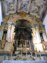 Interieur de l'eglise de Nossa Senhora das Mercês a Tiradentes, Minas Gerais