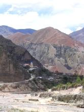 Le village d'Iruja a proximite de Jujuy, Argentine